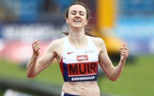 Laura Muir ran well in the 1500m to break the national record. Credit: MATT WEST/REX/BPI
