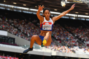 Katarina Johnson-Thompson shone in both the high jump and long jump. Credit: Getty