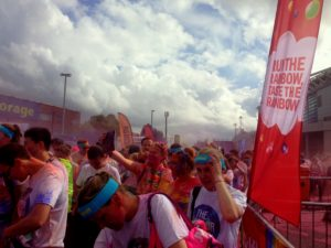 Making it to the finish line amongst all the colour