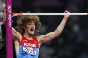 Russia's Ivan Ukhov reacts after winning the men's high jump final during the London 2012 Olympic Games at the Olympic Stadium August 7, 2012. REUTERS/Mark Blinch