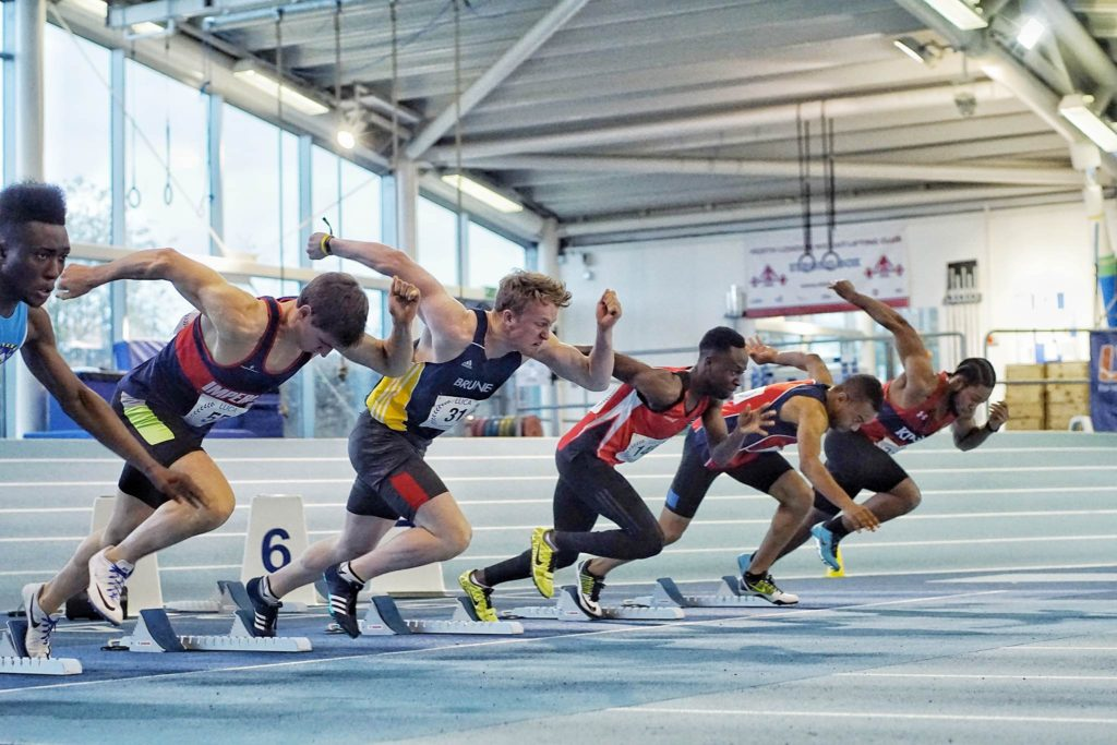Mens 60m HEAT 2. Credit: Chen Liang, Y Fei and Jay Reynolds.