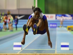 (Pictured) Ugen, Women's long jump British champion.