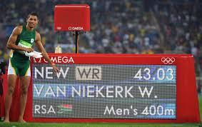Wayde Van Niekerk world record